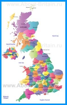 Административная карта Великобритании