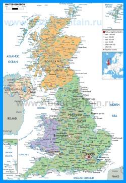 Политическая карта Великобритании
