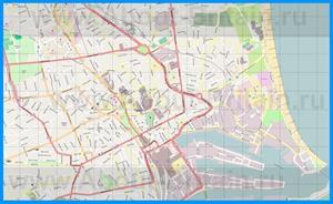 Подробная карта города Абердин
