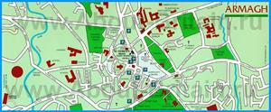 Подробная туристическая карта города Арма