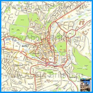 Подробная карта города Бат