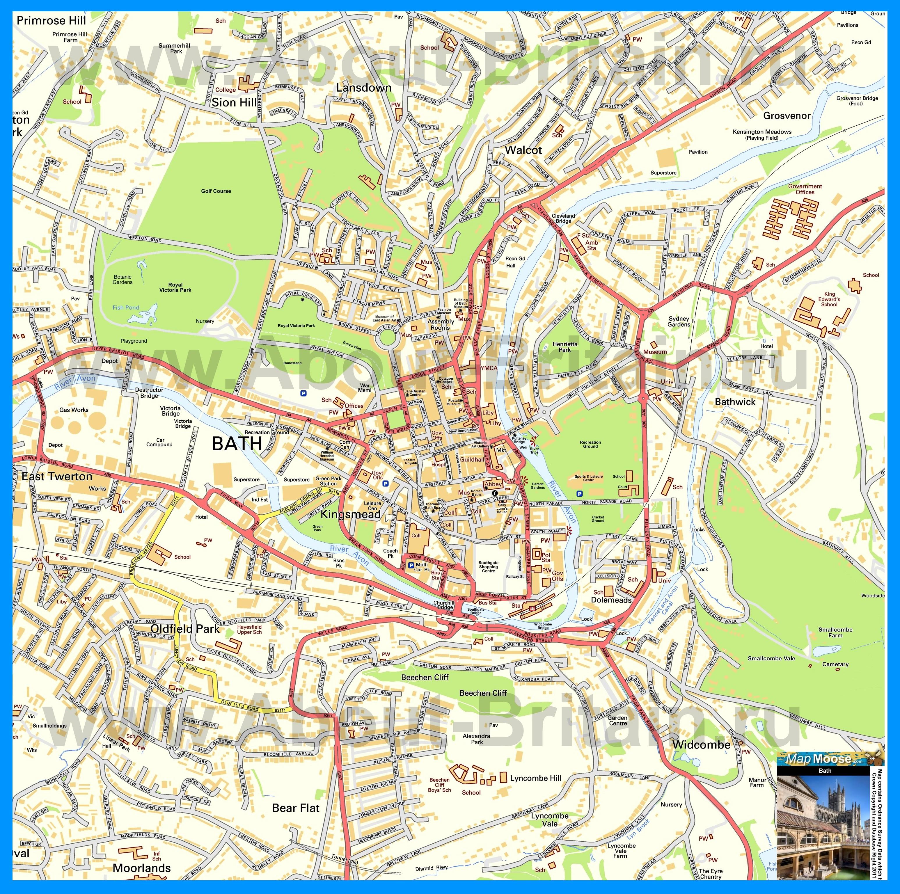 Подробная карта Королева с улицами и номерами домов