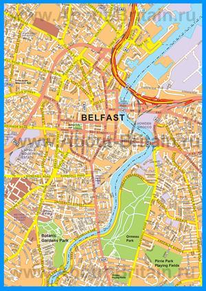 Подробная карта города Белфаст