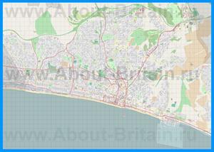 Подробная карта города Брайтон