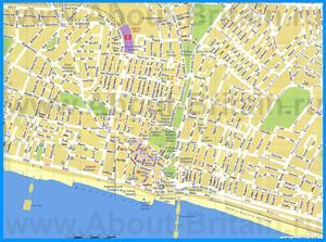 Туристическая карта Брайтона
