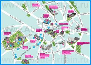 Туристическая карта города Брэдфорд