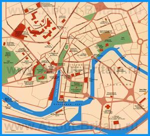 Карта Бристоля с достопримечательностями