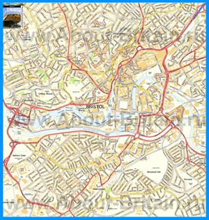 Подробная карта города Бристоль