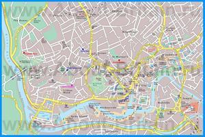 Туристическая карта Бристоля