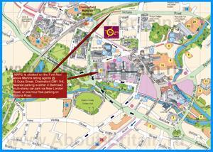 Туристическая карта города Челмсфорд