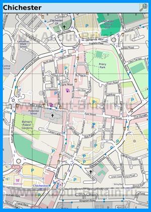 Подробная карта города Чичестер