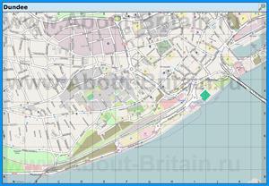 Подробная карта города Данди