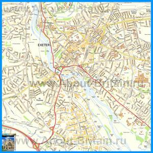 Подробная карта города Эксетер