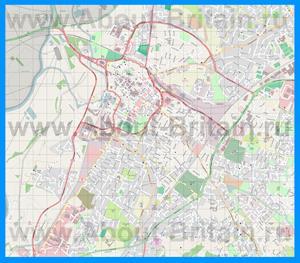 Подробная карта города Глостер