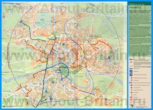 Подробная карта города Херефорд