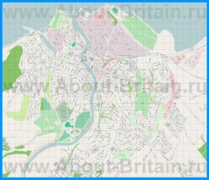 Подробная карта города Инвернесс