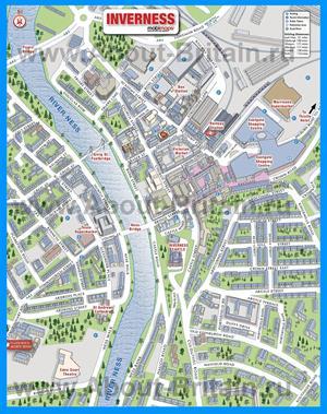 Туристическая карта Инвернесса