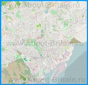 Подробная карта города Кардифф