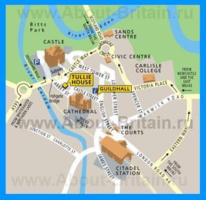 Туристическая карта центра города Карлайл