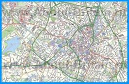 Туристическая карта Бирмингема