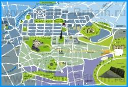 Туристическая карта Эдинбурга с достопримечательностями