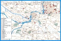 Туристическая карта Глазго с отелями