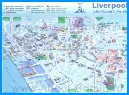 Туристическая карта Ливерпуля