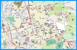 Подробная карта города Оксфорд