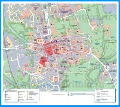 Туристическая карта Оксфорда