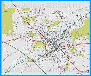 Подробная карта города Кентербери