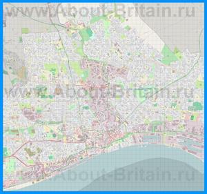 Подробная карта города Кингстон-апон-Халл