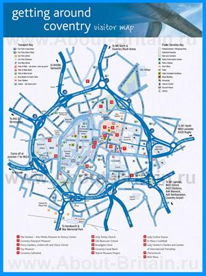 Туристическая карта Ковентри