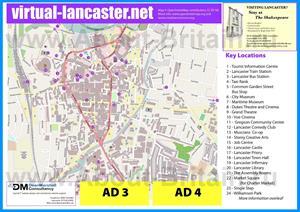Туристическая карта Ланкастера с достопримечательностями