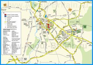 Подробная карта города Лестер