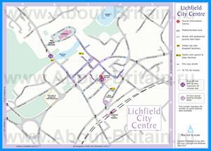Туристическая карта города Личфилд