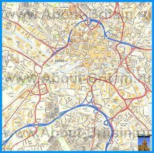 Подробная карта города Лидс