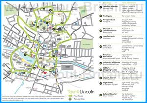 Туристическая карта Линкольна
