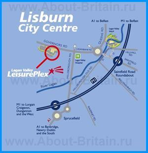 Карта центра города Лисберн