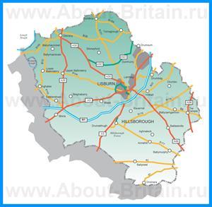 Карта Лисберна с окрестностями