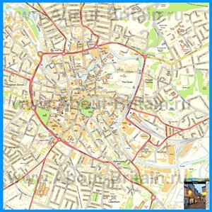 Подробная карта города Норидж