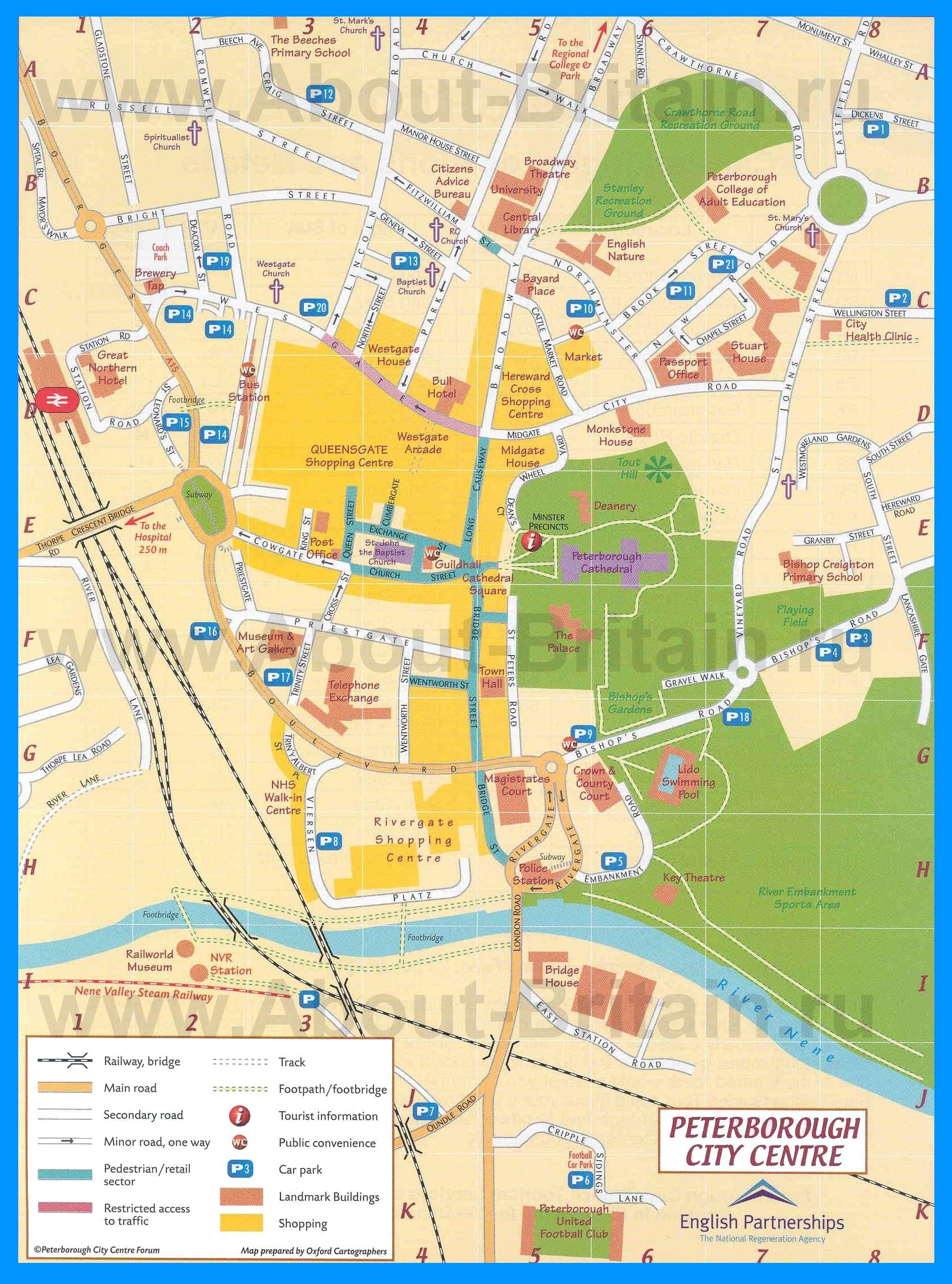 Подробная карта города питерборо