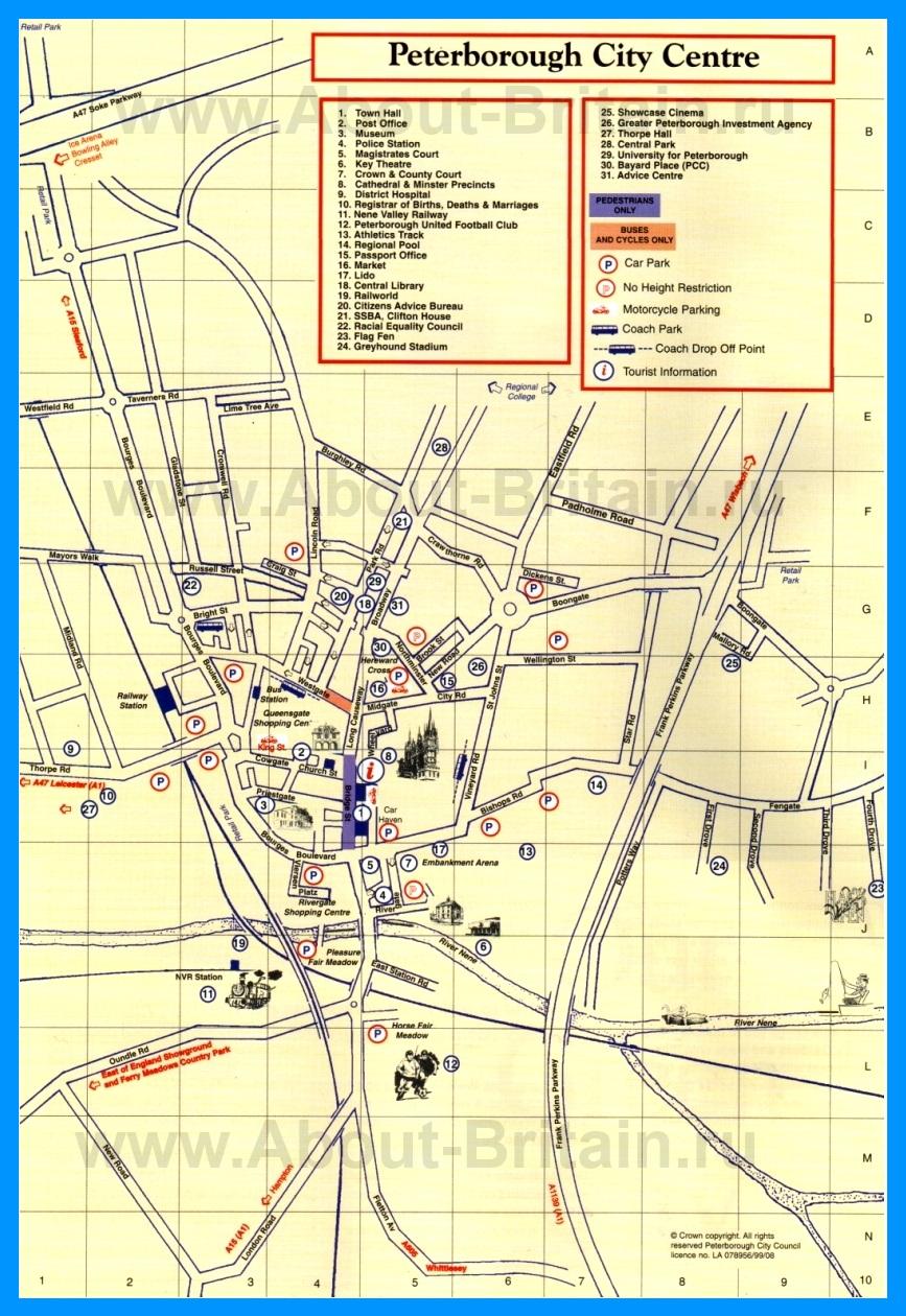Туристическая карта питерборо с