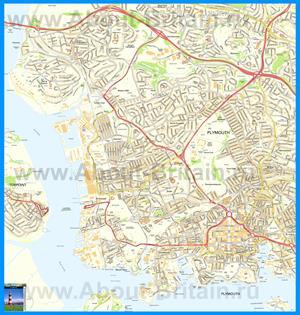 Подробная карта города Плимут