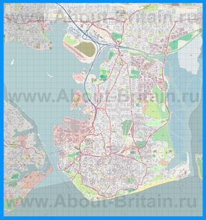 Подробная карта города Портсмут