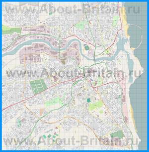 Подробная карта города Сандерленд