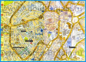 Подробная карта города Шеффилд