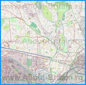 Подробная карта города Солфорд