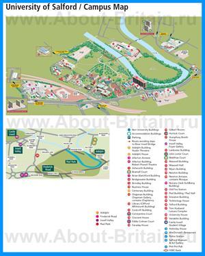 Подробная карта университета Солфорда