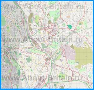 Подробная карта города Сток-он-Трент