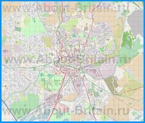 Подробная карта города Уэйкфилд